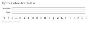 hírlevél küldés szerkesztő felület
