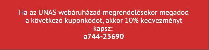 Unas kuponkód 10% kedvezmény: a744-23690
